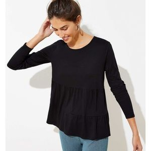 Loft Tiered Long Sleeve Tee